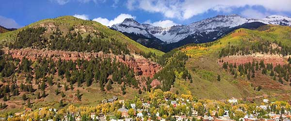 telluride downtown from gondola