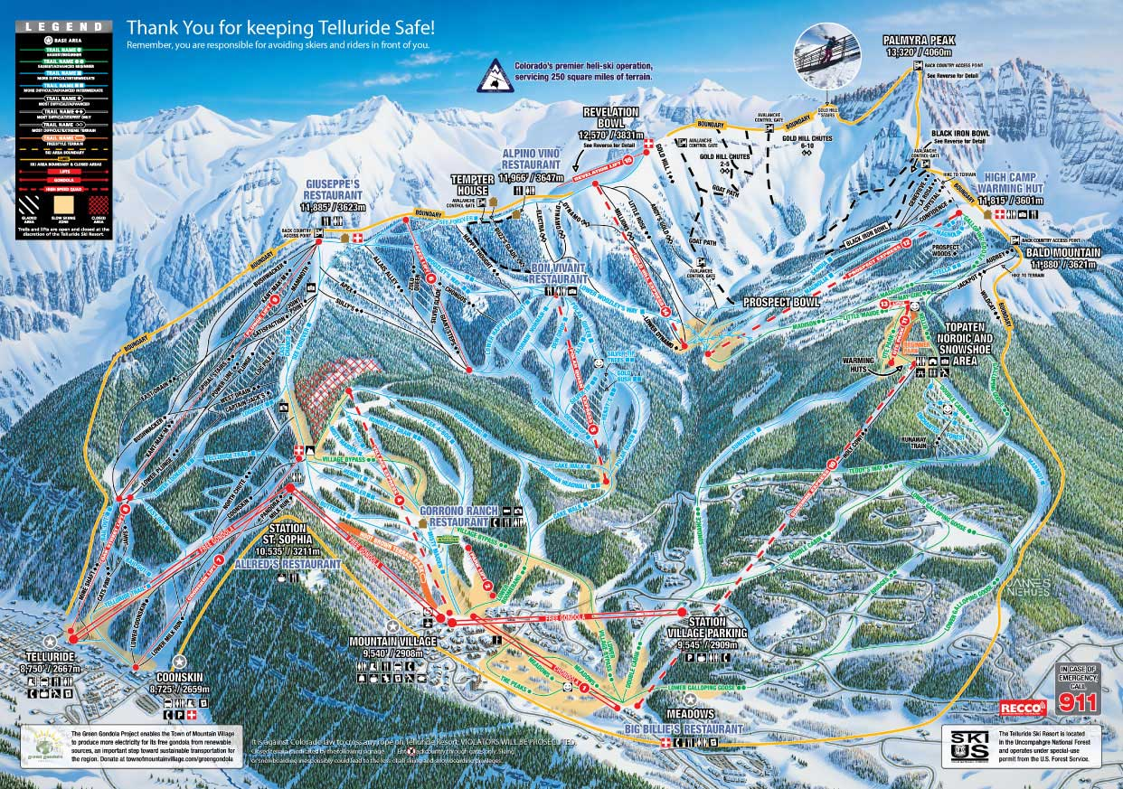Telluride Ski Resort Map