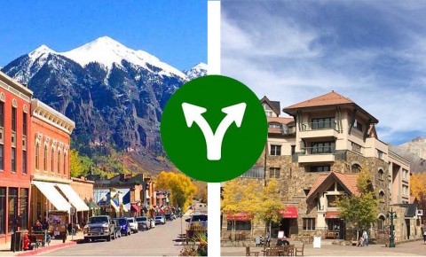 real estate telluride vs mountain village